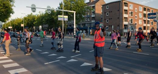 Skaters op het 't Goylaan