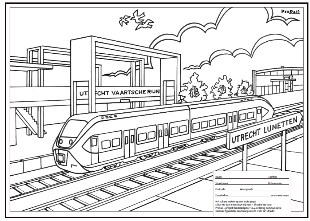 kleurplaten treinen ns
