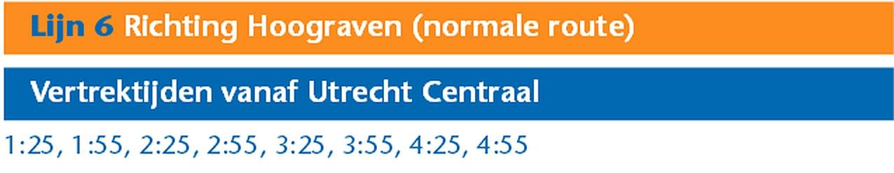Lijn 6 Normale Route Kdag