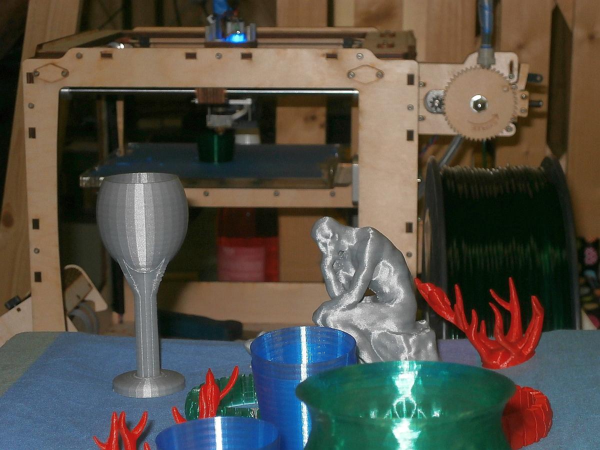 Rotslab 3D printer met resultaten