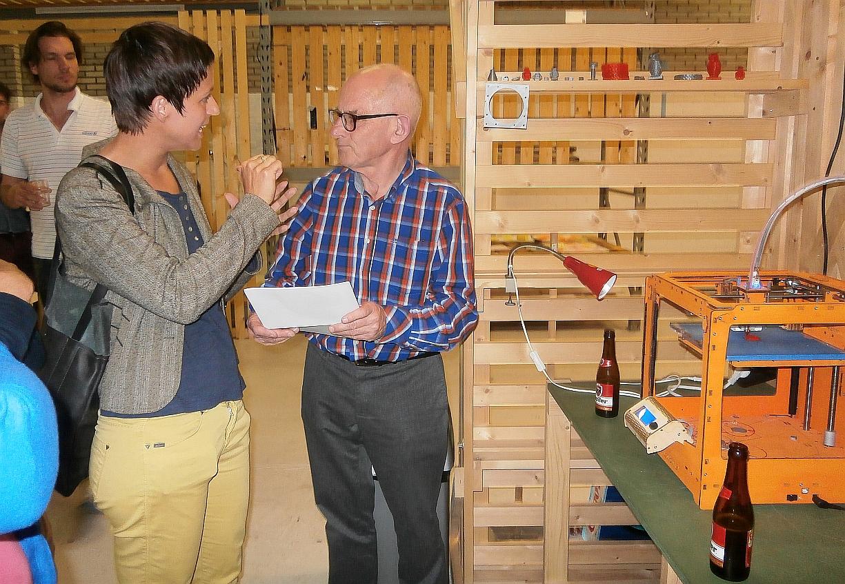 Rotslab Bart Bakker Fablab BeNeLux en 3D printer