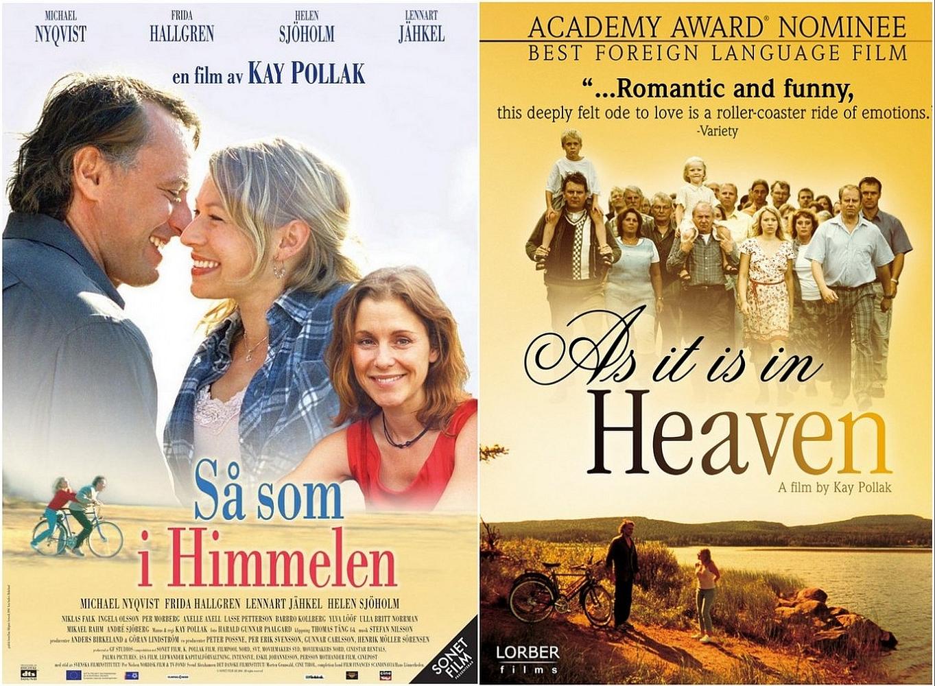 As it is in heaven poster Zweeds en Engels