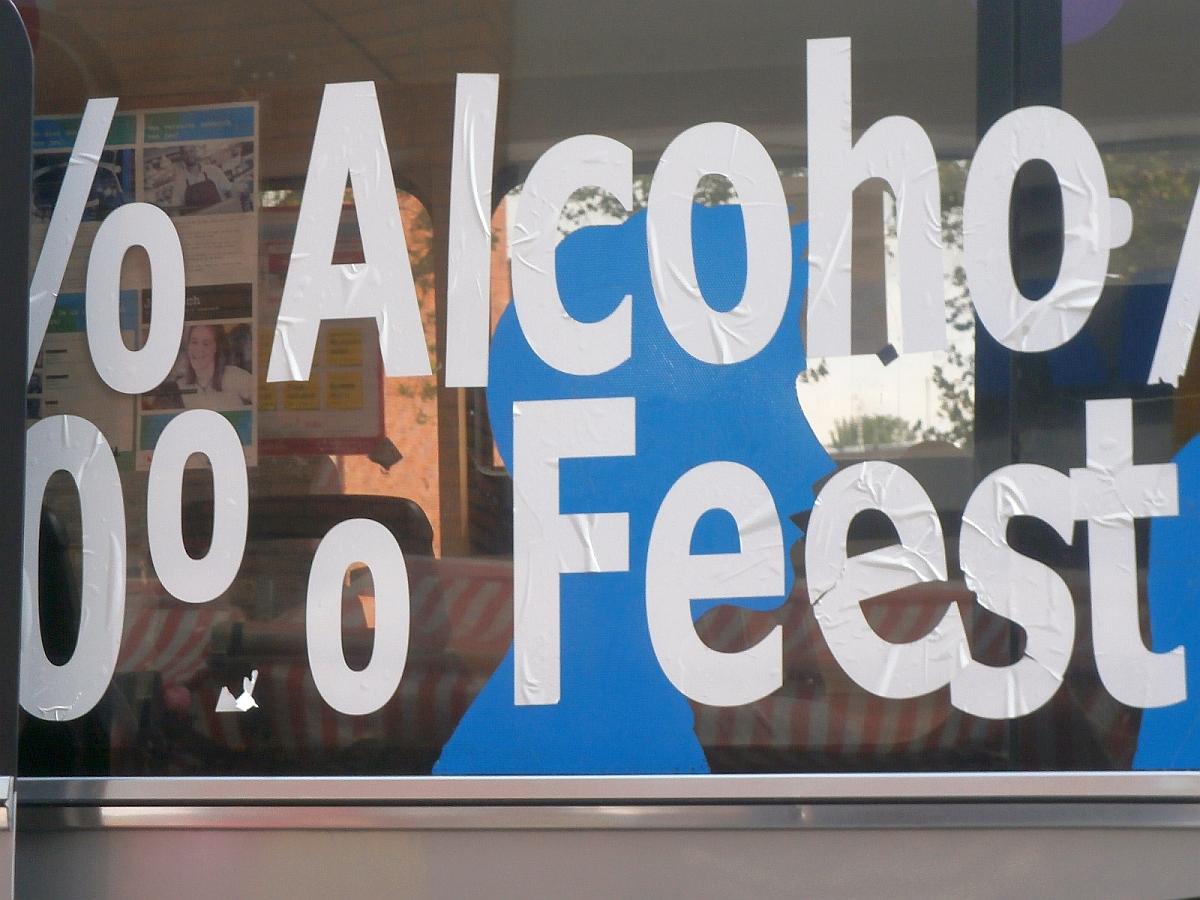 Goylaan  0 procent alcohol  bus tekst