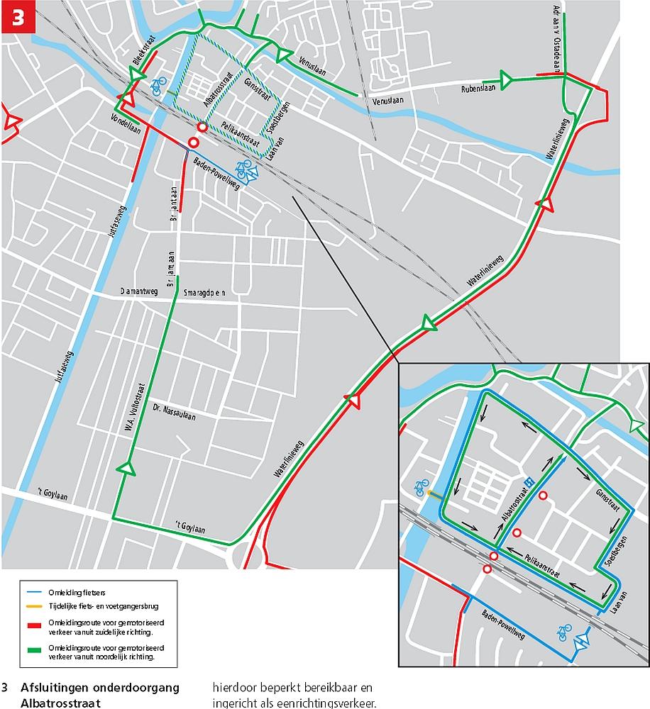 Albatrosstraat onderdoorgang Afsluiting 2e helft 2013