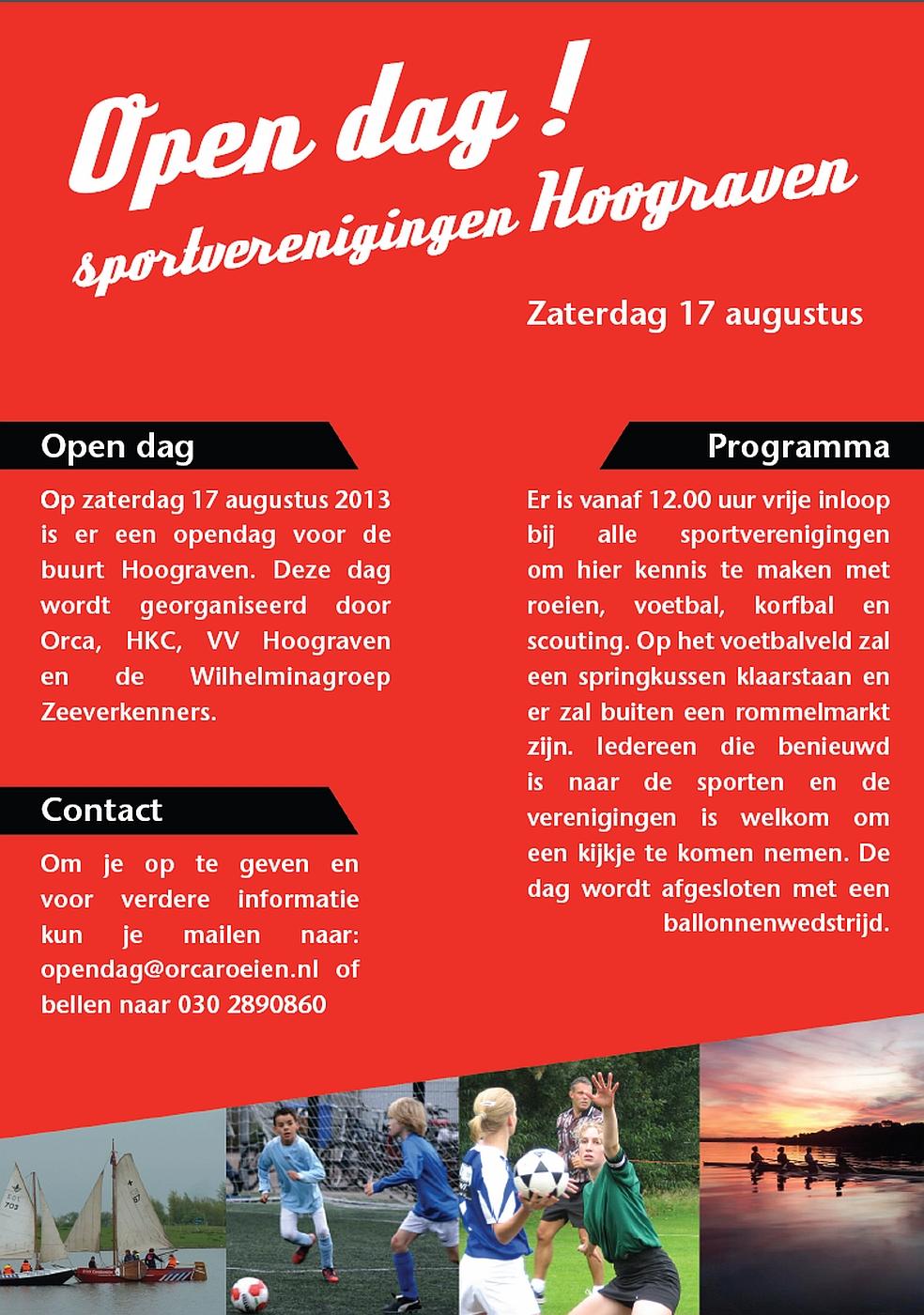Sportverenigingen Hoograven 17 augustus 2013