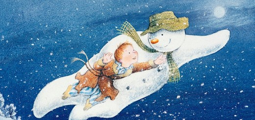 Sneeuwman met jongetje Ariensschool