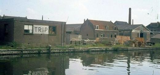Helling Fabrieksgebowuen Achterzijde Vaartse Rijn 1968 UA 20208