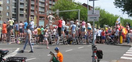 De Tour de France op de 't Goylaan. Foto: Astrid Zimmerman